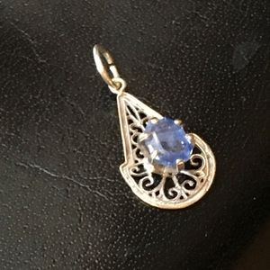 Sterling Gemstone pendant